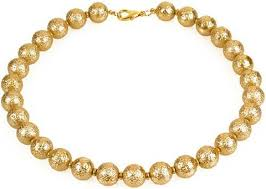 long gold beads necklace images Pre columbian golden bead necklace museum store jpeg
