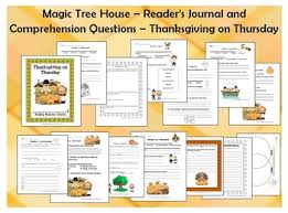 tree house 27 thanksgiving on thursday journal comprehension
