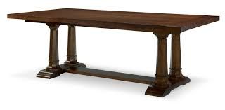 extendable dining table rachael ray home by legacy classic upstate trestle extendable