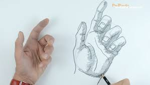 how to draw a hand part 2 bent fingers youtube