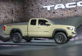 Tacoma Redesign First Look Toyota Unwraps 2016 Tacoma Car Pro