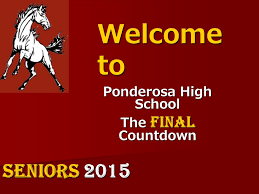 welcome to ponderosa high the final countdown seniors ppt