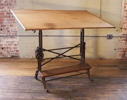 Antique Wooden Drafting Table by Studio Designs Avanta Drafting Table In Silver With Blue Glass