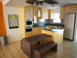 brown varnish plywood full area floor small kitchen design layout