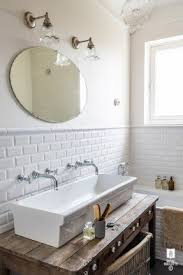 Sink With Double Faucet Wall Mounted Trough Sink Foter