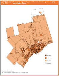 Census Tract Maps 1 Percentage Of Single Family Semi Detached Or Mobile Homes By