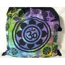 Lotus Flower With Om Symbol - lotus flower om symbol eco reusable tote bag yoga hippie india