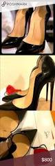 christian louboutins patent black 37 5 red sole