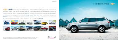 2010 chevrolet traverse crossover suv brochure