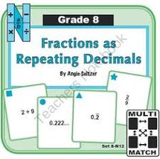 8 ns 1 converting repeating decimals and matching equations