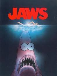 Jaws Meme - patrick star is jaws in the classic thriller