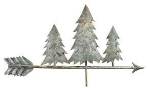 Nautical Weathervane Pine Trees Weathervane Blue Verdecopper By Good Directions