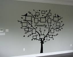16 tree wall decal with picture frames black memory tree photo family photo tree wall art decal wall art decal sticker