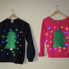 imposing design lighted christmas sweaters light up christmas decor