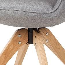 Esszimmerstuhl Drehbar Armlehnenstuhl Ermelo Drehbar Grau Stuhl Esszimmerstuhl Stühle