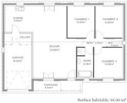 plan maison simple 3 chambres plan maison 90m2 3 chambres plan maison m chambres images with