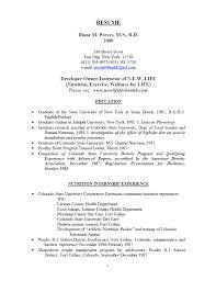 objective in a resume for internship newlifeforhealth com diane preves m s r d resume