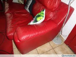 canapé 2places canapé 2places cuir italien réhaussé avec blocs a vendre