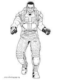 captain america sam wilson military officer coloring