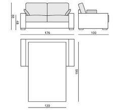 dimension canapé lit lit 2 places dimensions amazing dimension lit deux personnes