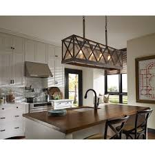 Murray Feiss Island Lighting Seeded Glass Island Light Weathered Oak Rubbed Bronze Feiss