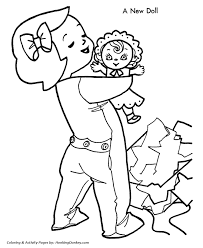 christmas coloring pages girls learntoride