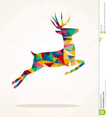 merry christmas contemporary triangle reindeer gre stock photos