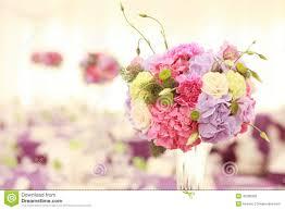 Wedding Flower Beautiful Wedding Flower Decoration Table Arrangement Stock Photo