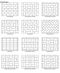 Brick Patterns For Patios Paver Patio Designs These Would Also Make Great Quilt Layout