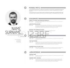 infographic template with icons for cv personal profile resume