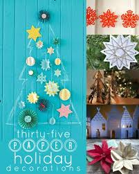 paper christmas decorations remodelaholic 35 paper christmas decorations to make this