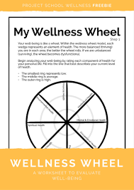 wellness wheel worksheet free worksheets library download and