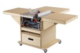 diy table saw stand with wheels quick convert tablesaw router station wood magazine
