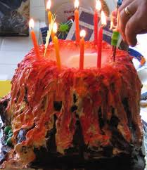really smoking volcano cake 3 steps