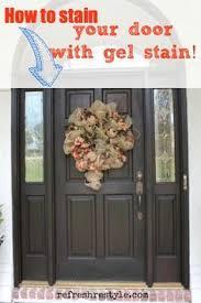 Stain For Fiberglass Exterior Doors Gel Stained Fiberglass Door I Used Masters Gel Stain My