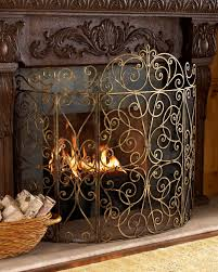 living room uniflame corporation single panel wrought iron