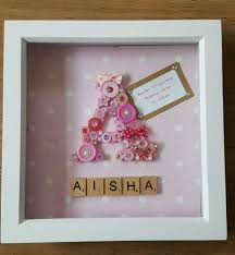 keepsake items gorgeous large initial letter scrabble frame new baby christening