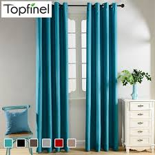 Turquoise Velvet Curtains Aliexpress Com Buy Top Finel Solid Blackout Curtains For Living