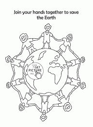 together to save the earth earth day coloring page for kids