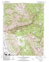 Topographical Map Of Utah by Timpanogos Cave Topographic Map Ut Usgs Topo Quad 40111d6