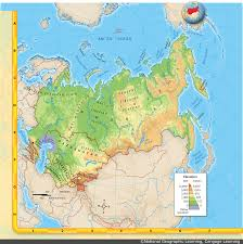Russia Physical Map Physical Map by Sprabary Michael Unit 6 Russia U0026 Eurasian Republics