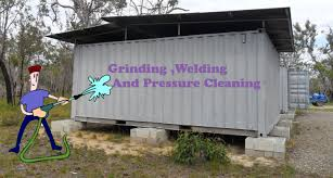 grinding welding and pressure cleaning shipping container house