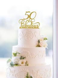 50 birthday cake 50 and fabulous birthday topper 50th birthday topper