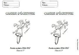Page de garde cahier décriture  CPCE1  Fée des écoles