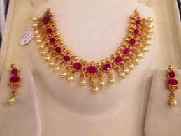 diamond ruby necklace sets images Ruby necklace set jpg