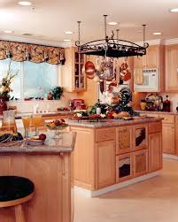 kitchen island with pot rack kitchen pot rack island country maple kitchen window