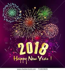 happy new year s greeting cards happy new year 2018 greeting card stock vector 711815605