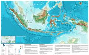 Physical Map Of Germany by Large Detailed Physical Map Of Indonesia