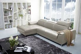 Left Facing Sectional Sofa Almond Beige Color Italian Leather Sectional Sofa By J U0026m Furniture