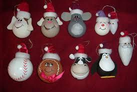 like the baseball but make it a softball lightbulb ornaments